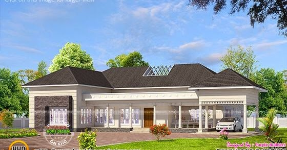 India bungalow exterior kerala home design and floor plans for Indian bungalow house designs