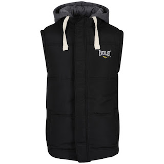 Everlast Mens Jersey Hooded Gilet - Black