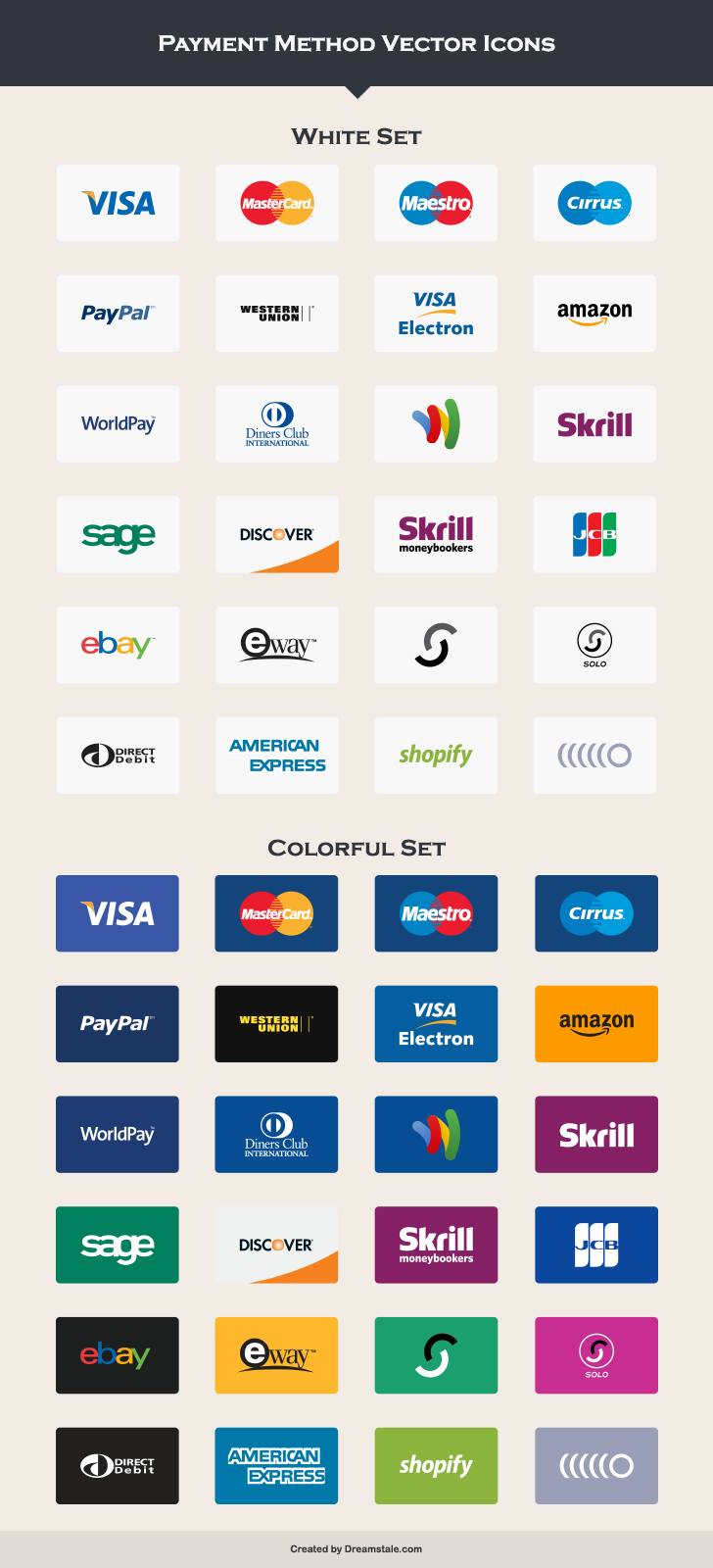 24 Free Payment Method Icons