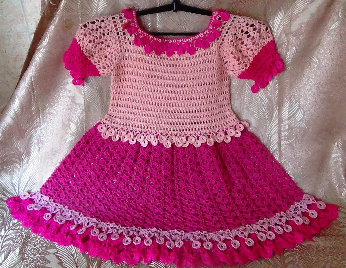 Мастер-класс по вязанию крючком для начинающих детского платья