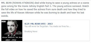 Rowan Atkinson Mr. Bean Died 2013 Hoax