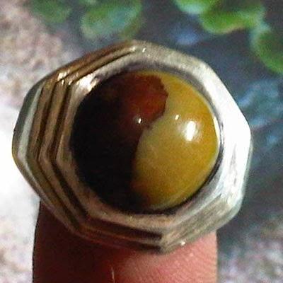 Cincin fosil kelor yin yang, cincin fosil,kelor,yin yang