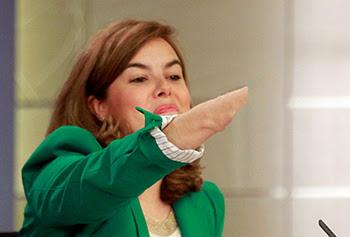 el villano arrinconado, humor, chistes, reir, satira, Soraya Saénz de Santamaría