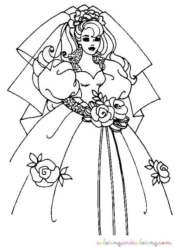 coloring bride