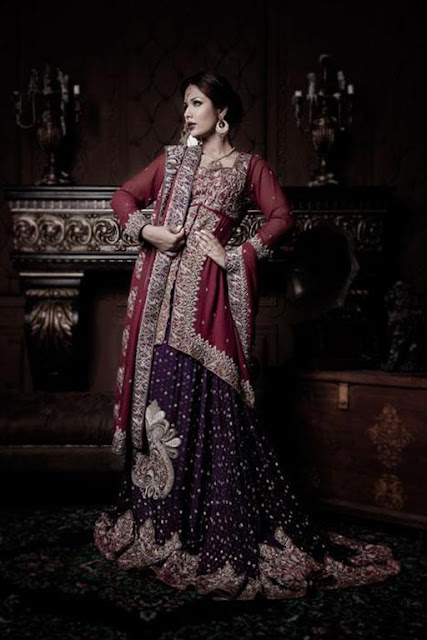 Pakistani bridal Lehnga Designs 2012