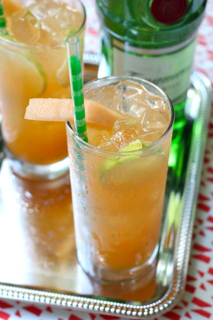 southern cantaloupe limeade with Tanqueray gin