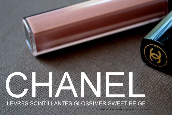 Fall 2012 Makeup Collection Les Essentiels de Chanel Levres Scintillantes Glossimer Sweet Beige Ingredients Beauty Blog Reviews Swatches Looks