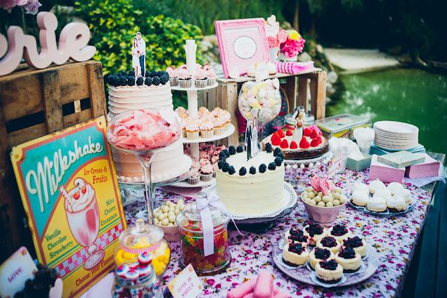 Candy bar de bodas de cuento
