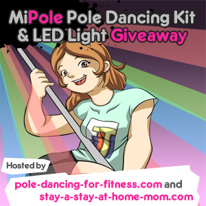 MiPole Pole Dancing Kit 7 LED Light Giveaway button