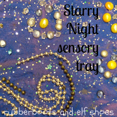 Starry Night sensory tray