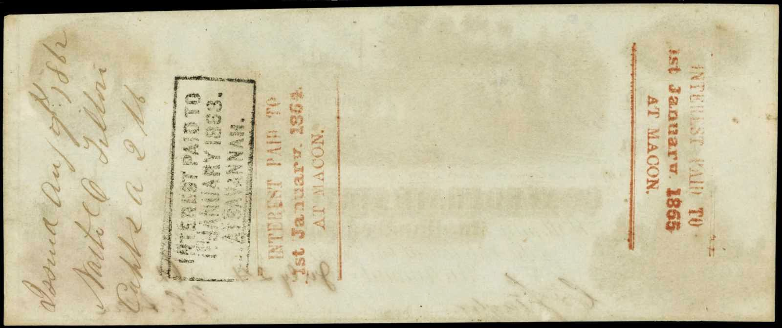 Confederate Money interest paid stamps