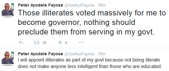 Nigeria: Ayo Fayose's sentiment about illiterates could hurt his state