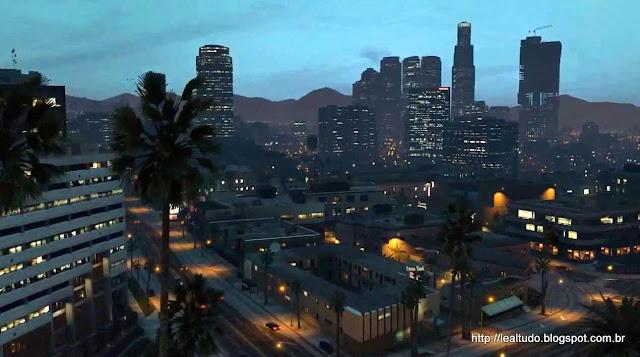 Grand Theft Auto Online Los Santos Night Lights - Luzes Noite