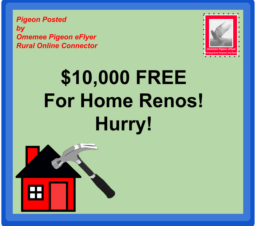 image Omemee Pigeon Posted $10,000 free for Home Renos Hurry