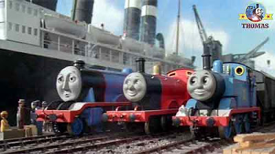 Gordon the big blue engine dockyard Salty and James the red train Thomas the tank engine and friends