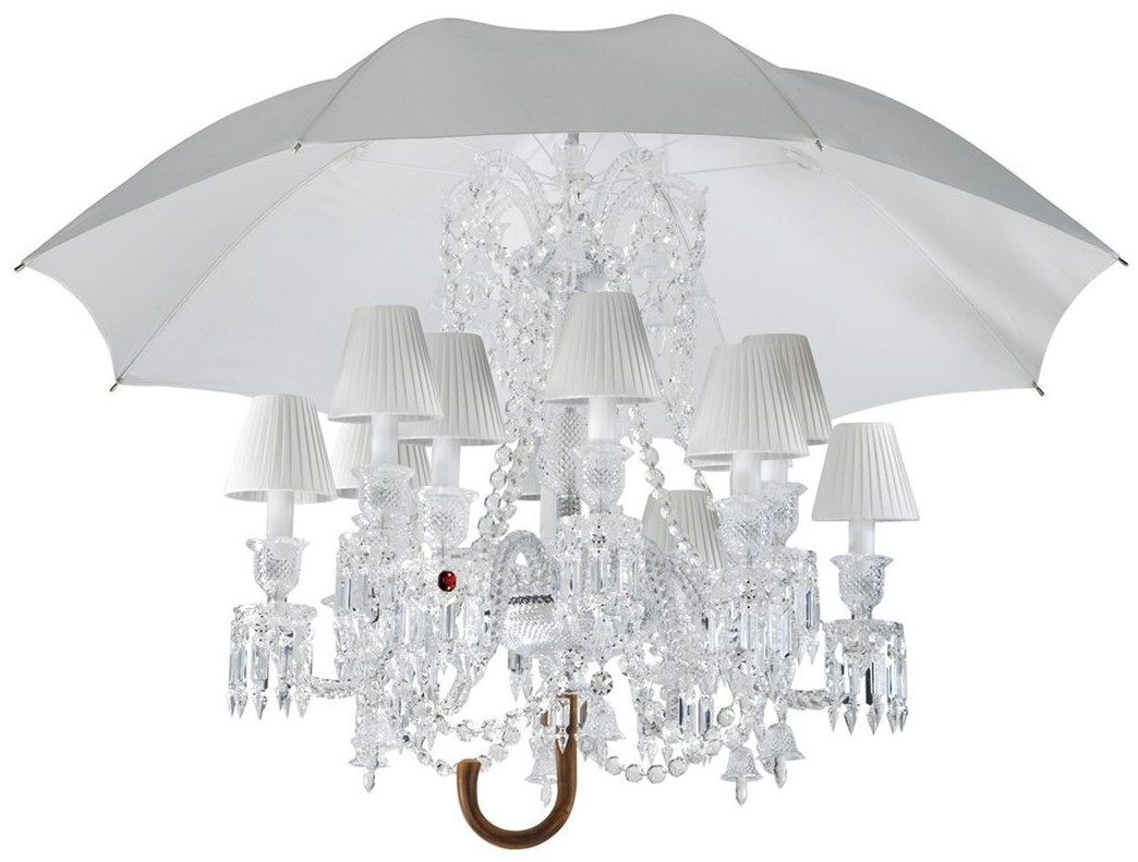 The well appointed catwalk umbrella chandeliers inspired by marie coquine floor lamp and marie coquine chandelier by philippe starck for baccarat arubaitofo Images
