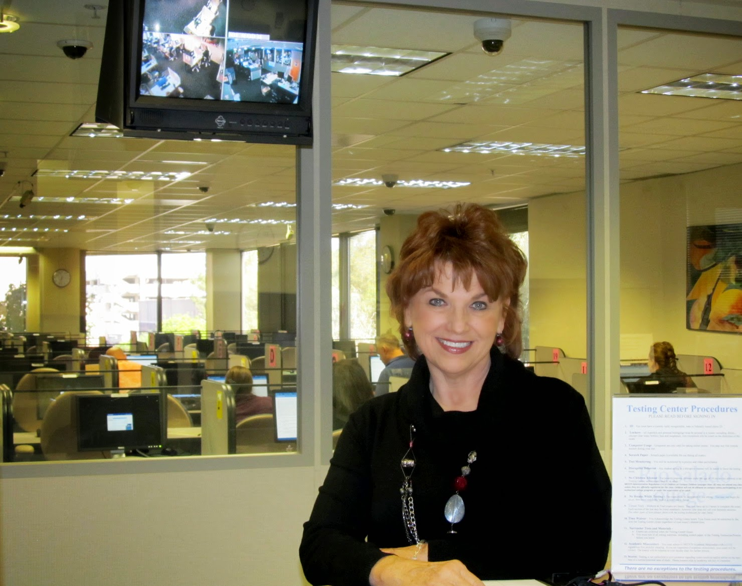 photo of Linda Lukey at testing center in Tempe