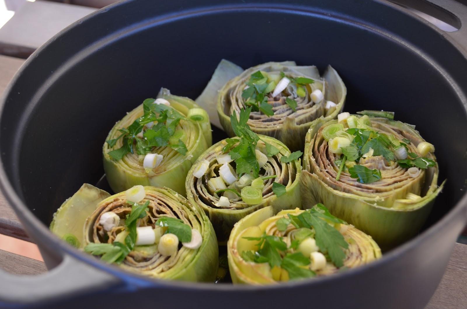Cocinar con c alcachofas con ajos tiernos for Cocinar alcachofas