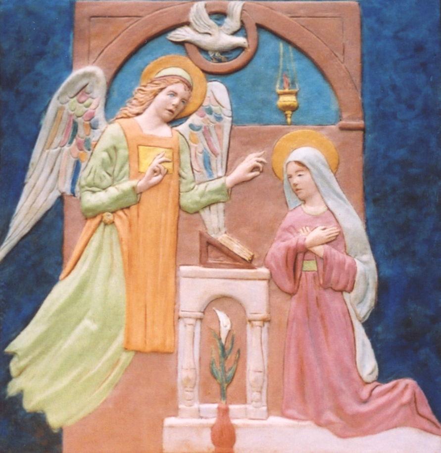 L'ANNONCE DE L'ANGE À MARIE dans images sacrée 2732