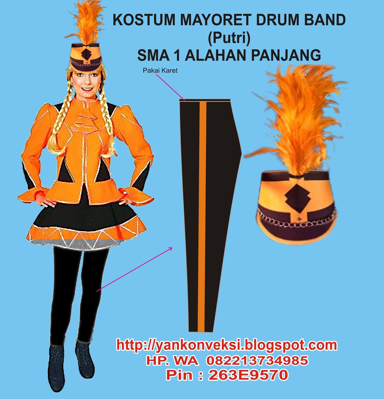 KOSTUM MAYORET DRUM BAND DAN MARCHING BAND
