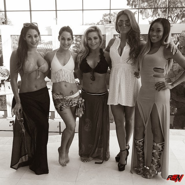 Black and White Pose Photo of the WWE Total Divas.