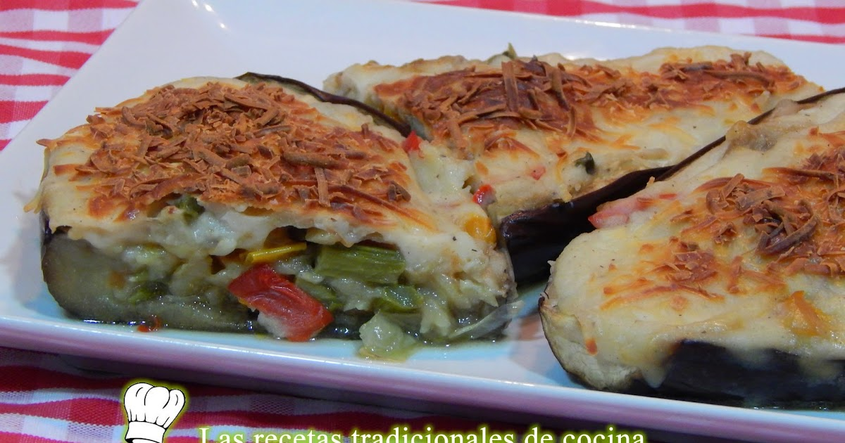 Receta f cil de berenjenas rellenas de verduras recetas - Cena para invitados facil ...
