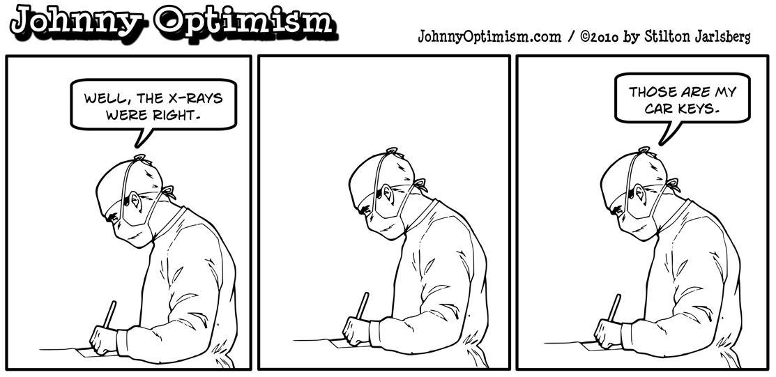 johnnyoptimism, johnny optimism, medical humor, sick jokes, doctor jokes, wheelchair, stilton jarlsberg, surgeon