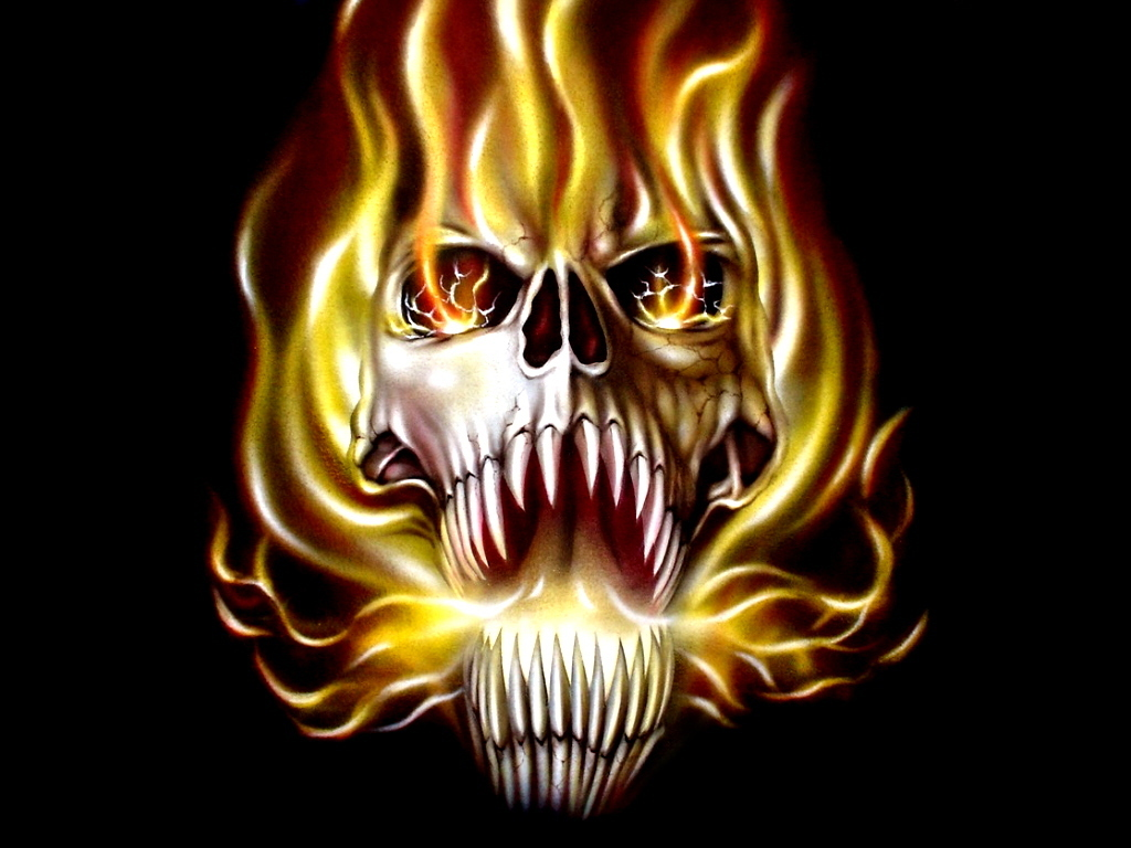 seenwall fire skull wallpapers gallery. Black Bedroom Furniture Sets. Home Design Ideas