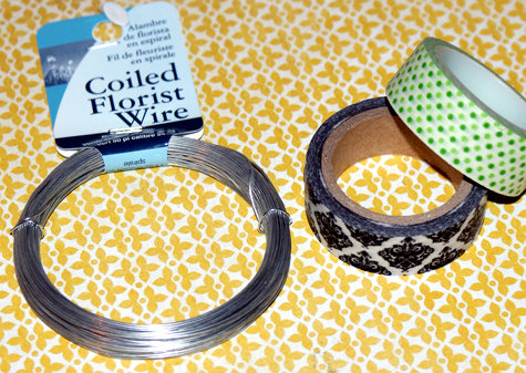 How to make twist ties using washi tape and florist wire