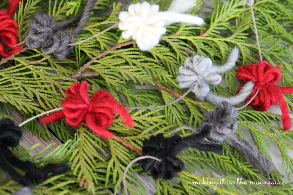 Making It In The Mountains DIY Rustic Christmas Tree Garland-Treasure Hunt Thursday- From My Front Porch To Yours