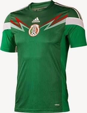 Kostum Timnas Meksiko Piala Dunia 2014