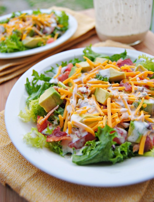 ... : Endive, Avocado, and Bacon Salad with Chipotle Ranch Dressing