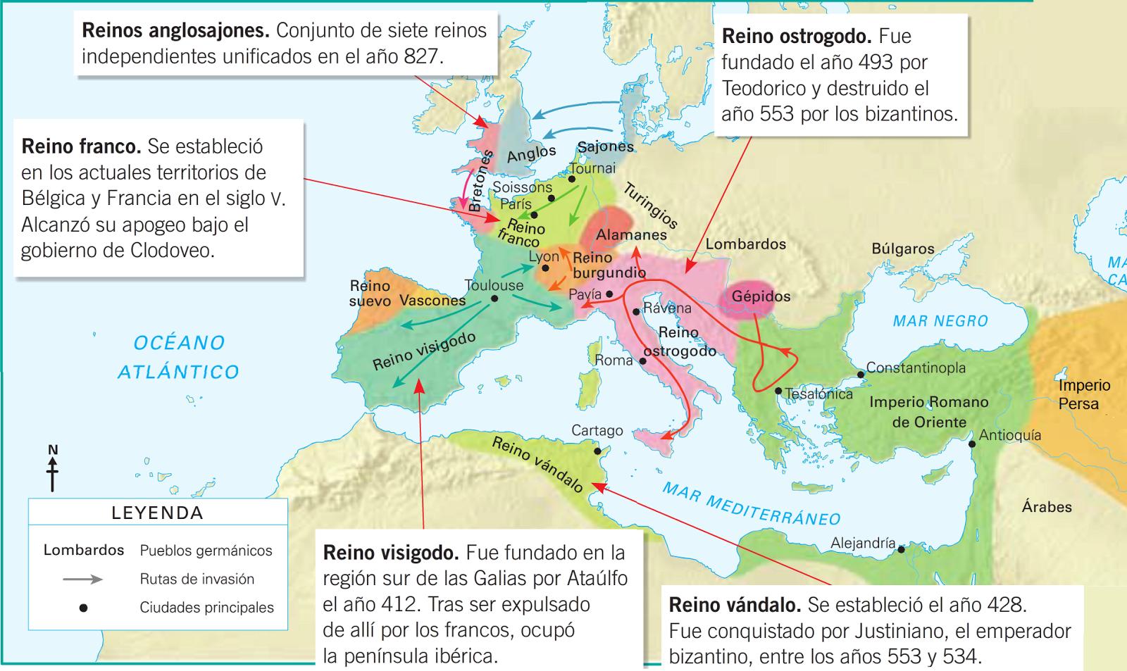 Mapa Mundo Europa Medieval