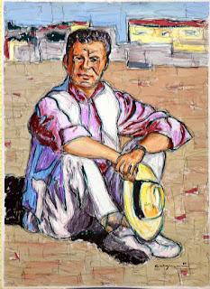 Home assentat - Hombre sentado