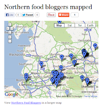 Northern Food Bloggers Mapped