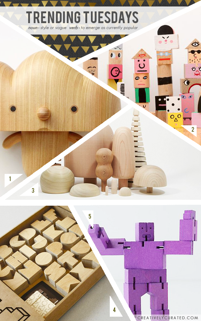 TRENDING TUESDAYS : WOODEN TOYS | Shared on CreativelyCurated.com #wooden #toys #CreativelyCurated