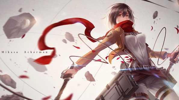 mikasa ackerman anime girls attack on titan shingeki no kyojin hd wallpaper 1920x1080 7z