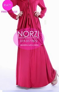(LESS 20% UNTIL AIDILFITRI) NBH0094 AZITA DRESS