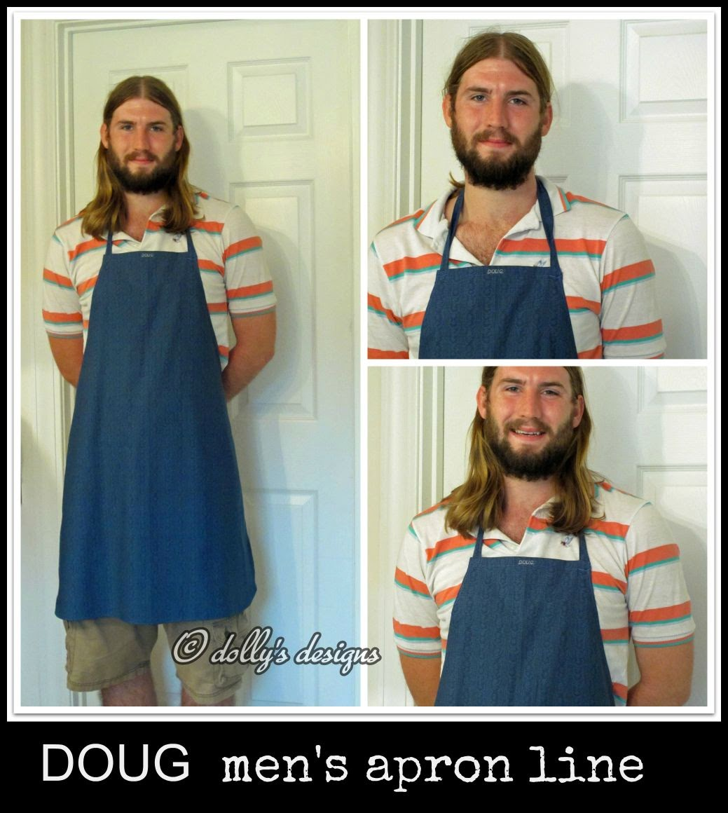 dolly's designs Mens Apron Liine