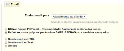 E-mail prestashop - função phpmail ou smtp