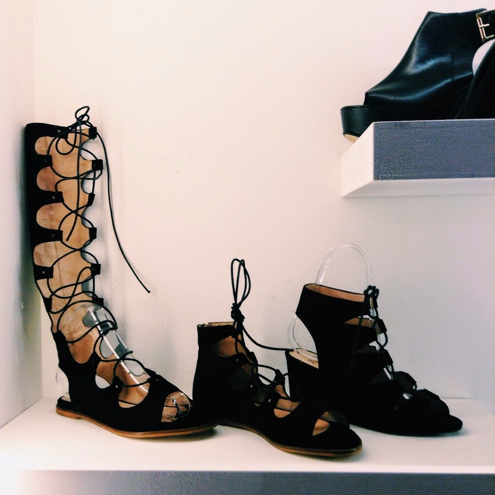 debenhams ss15 press day lace up sandals black