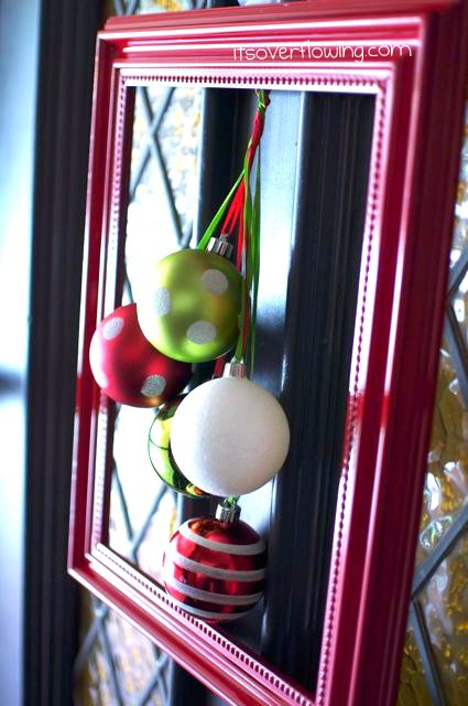 Front Door Wreath: Framed Ornaments