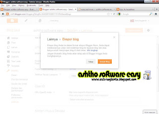 Cara Membackup Blogspot