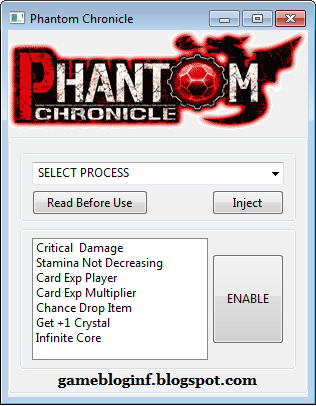 Phantom Chronicle Hack Update 2015
