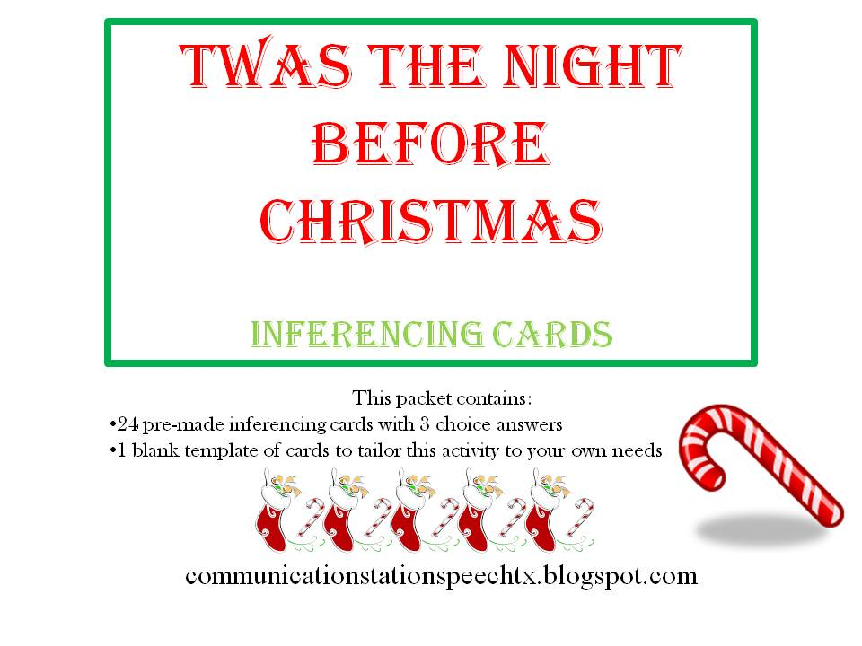 Freebie Friday Flashback Twas the Night Before Christmas – Flashback Worksheet