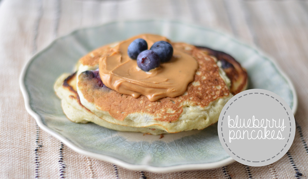 semi-homemade blueberry pancakes - Fit Foodie Finds
