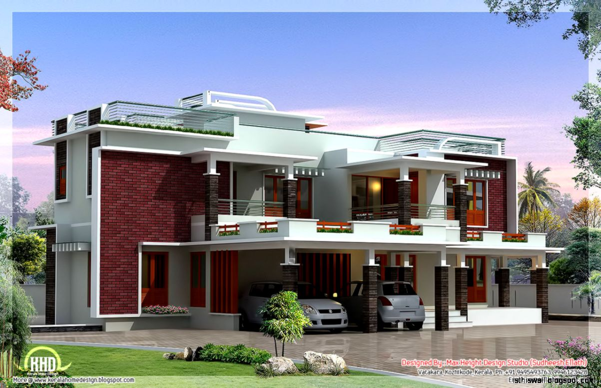 My sweet home design this wallpapers for Custom modern home plans
