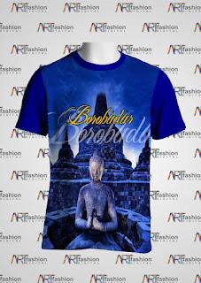 Kaos Edisi Pariwisata JOGJA Borobudur Serie Siluet 2