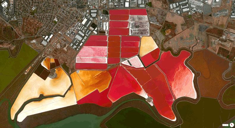 Foto mozzafiato: USA: San Francisco, California - Stagni per evaporazione salina