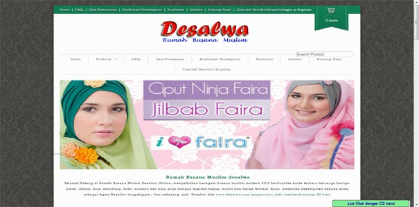 polisi online, busana muslim